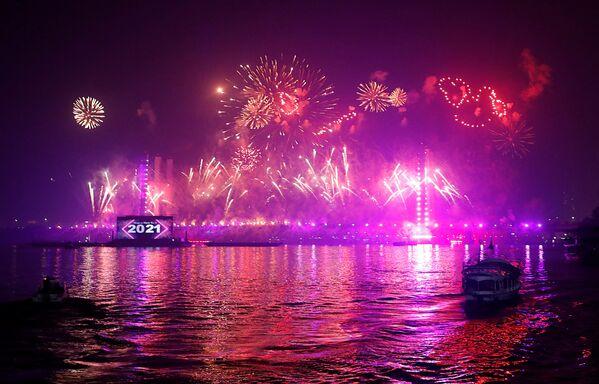 Fajerwerki z okazji Nowego Roku 2021 w Kairze - Sputnik Polska