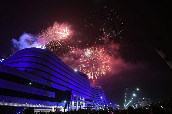 Fajerwerki z okazji Nowego Roku 2021 w Pakistanie - Sputnik Polska