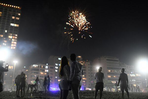 Fajerwerki z okazji Nowego Roku 2021 w Brazylii - Sputnik Polska