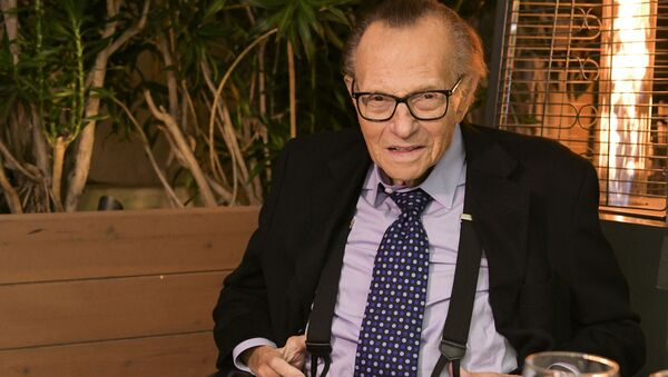 Amerykański dziennikarz Larry King - Sputnik Polska