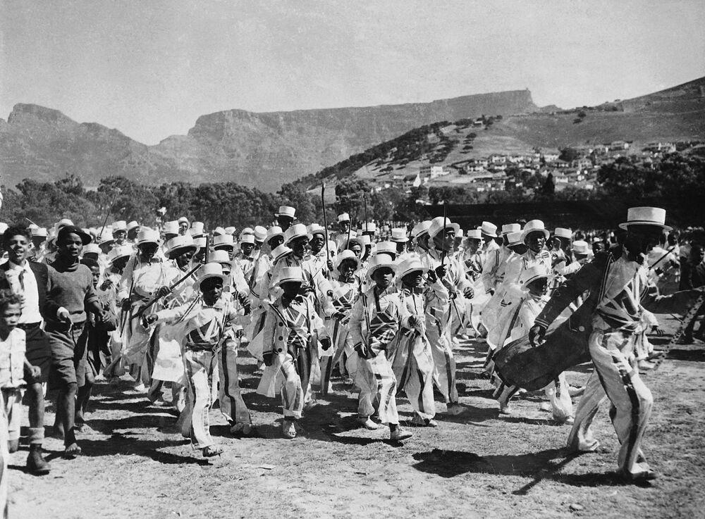 Mieszkańcy Kapsztadu 1 styczna 1950 roku