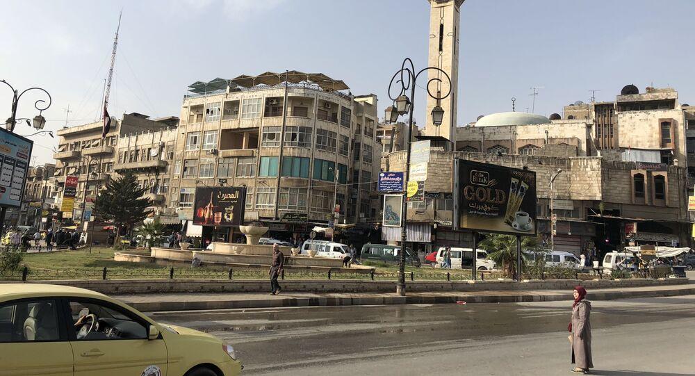 Ulica w centrum miasta Hama.
