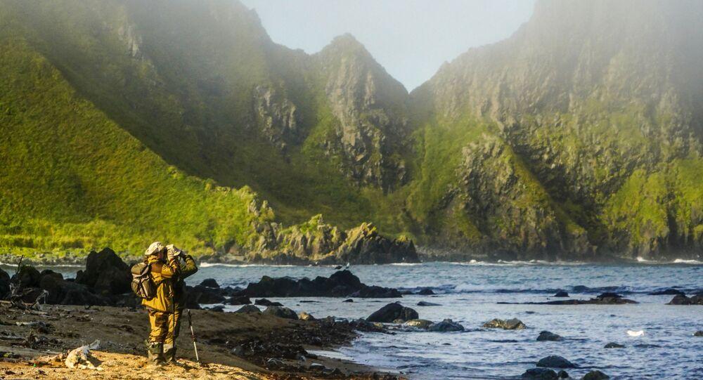 Przylądek Wasin na Wyspach Kurylskich
