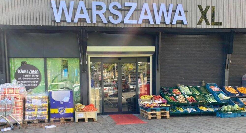 Polski supermarket Warszawa XL w Holandii