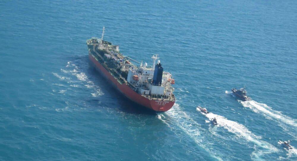 Południowokoreański tankowiec Hankuk Chemi w Zatoce Perskiej