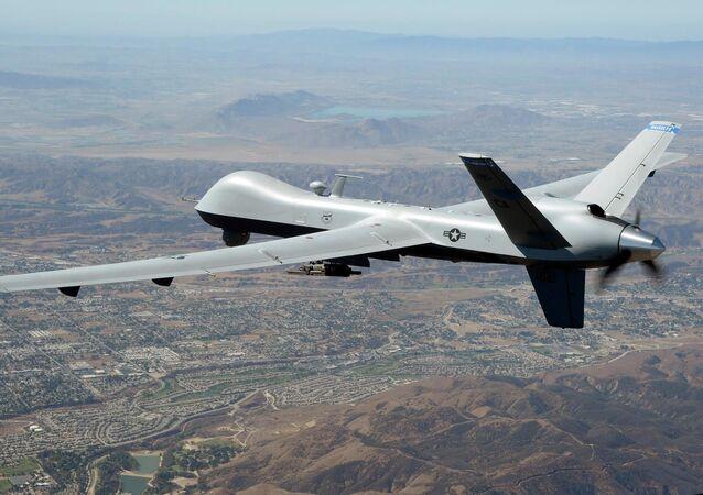 Amerykański dron zwiadowczy MQ-9 Reaper. Zdjęcie archiwalne