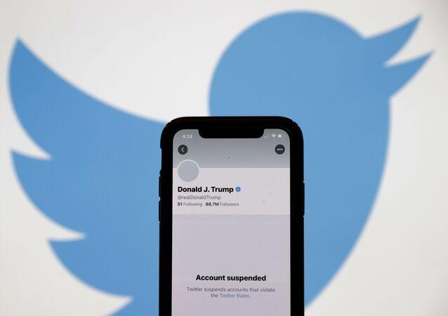 Konto Donalda Trumpa na Twitterze.