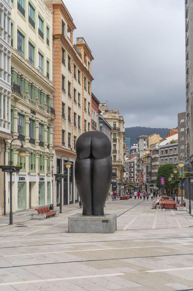 Wizerunek pupy w mieście Oviedo w Hiszpanii