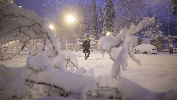 Opady śniegu w Hiszpanii. - Sputnik Polska
