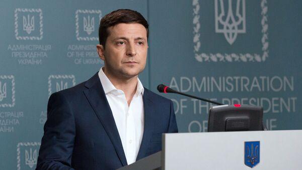 Prezydent Ukrainy Wołodymyr Zełenski. - Sputnik Polska