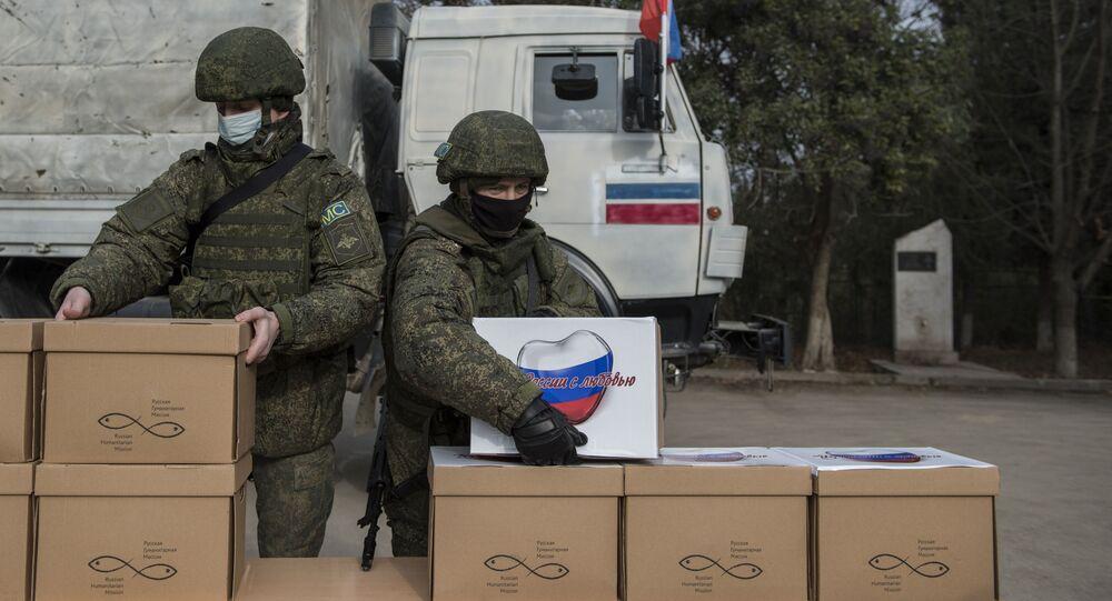 Rosyjscy żołnierze w Górskim Karabachu