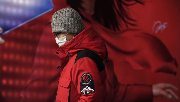 Mężczyzna w masce, Pekin - Sputnik Polska