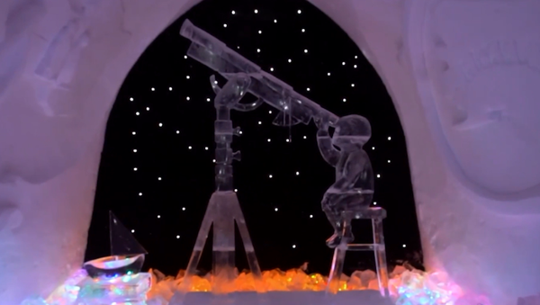 Z wizytą u Królowej Śniegu: zachwycająca wystawa rzeźb lodowych - Sputnik Polska