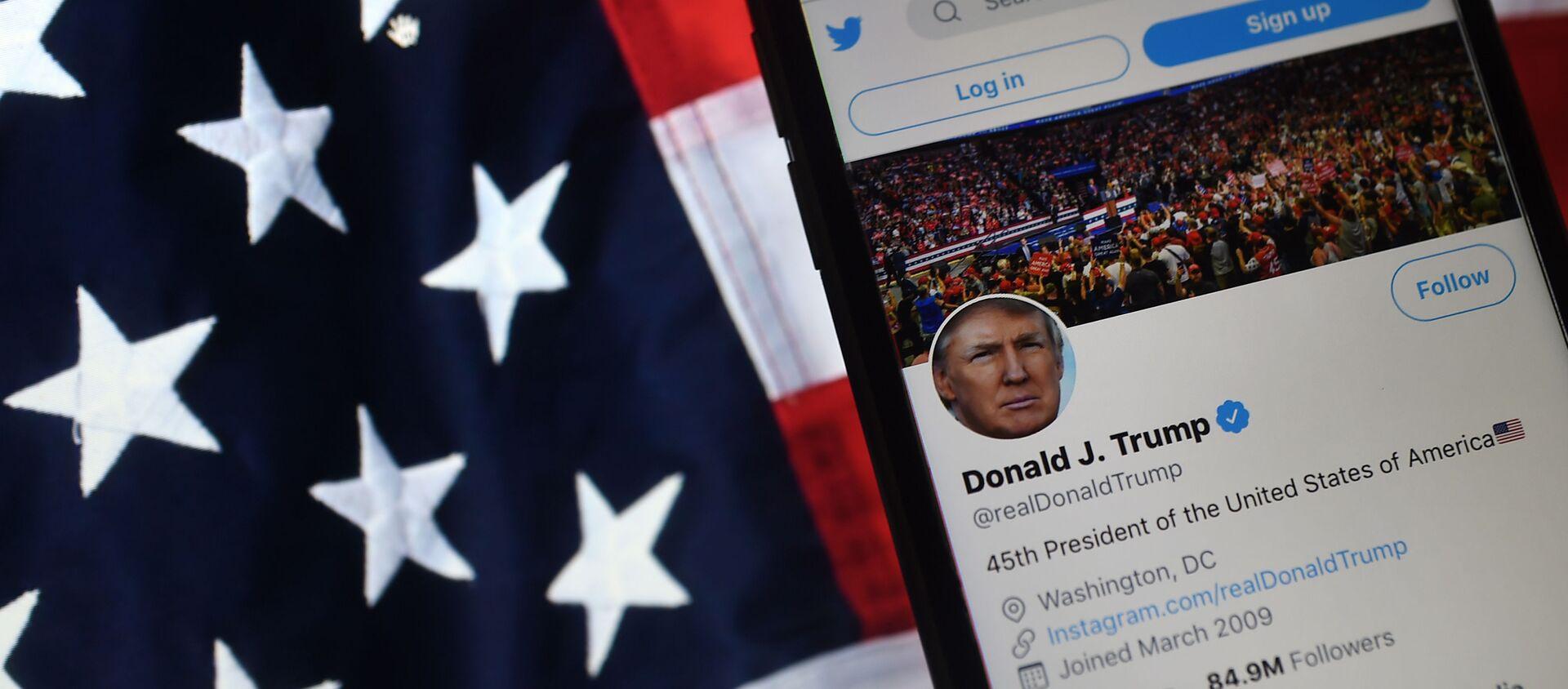 Konto Donalda Trumpa na Twitterze - Sputnik Polska, 1920, 14.01.2021