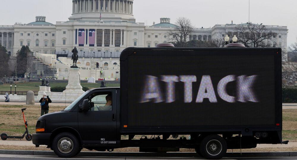 Sytuacja na Kapitolu w Waszyngtonie.