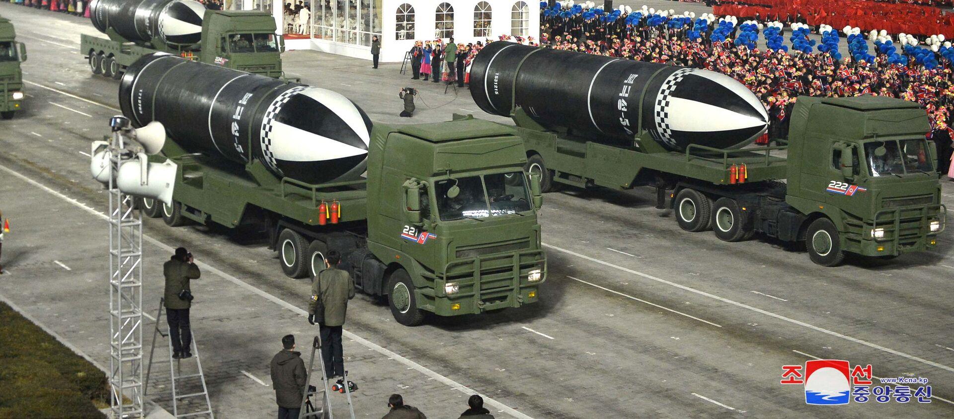 Parada wojskowa z okazji VIII zjazdu Partii Pracy Korei w Pyongyang - Sputnik Polska, 1920, 15.01.2021