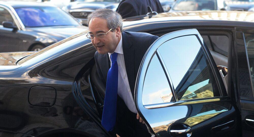 Minister spraw zagranicznych Syrii Faisal Mekdad.