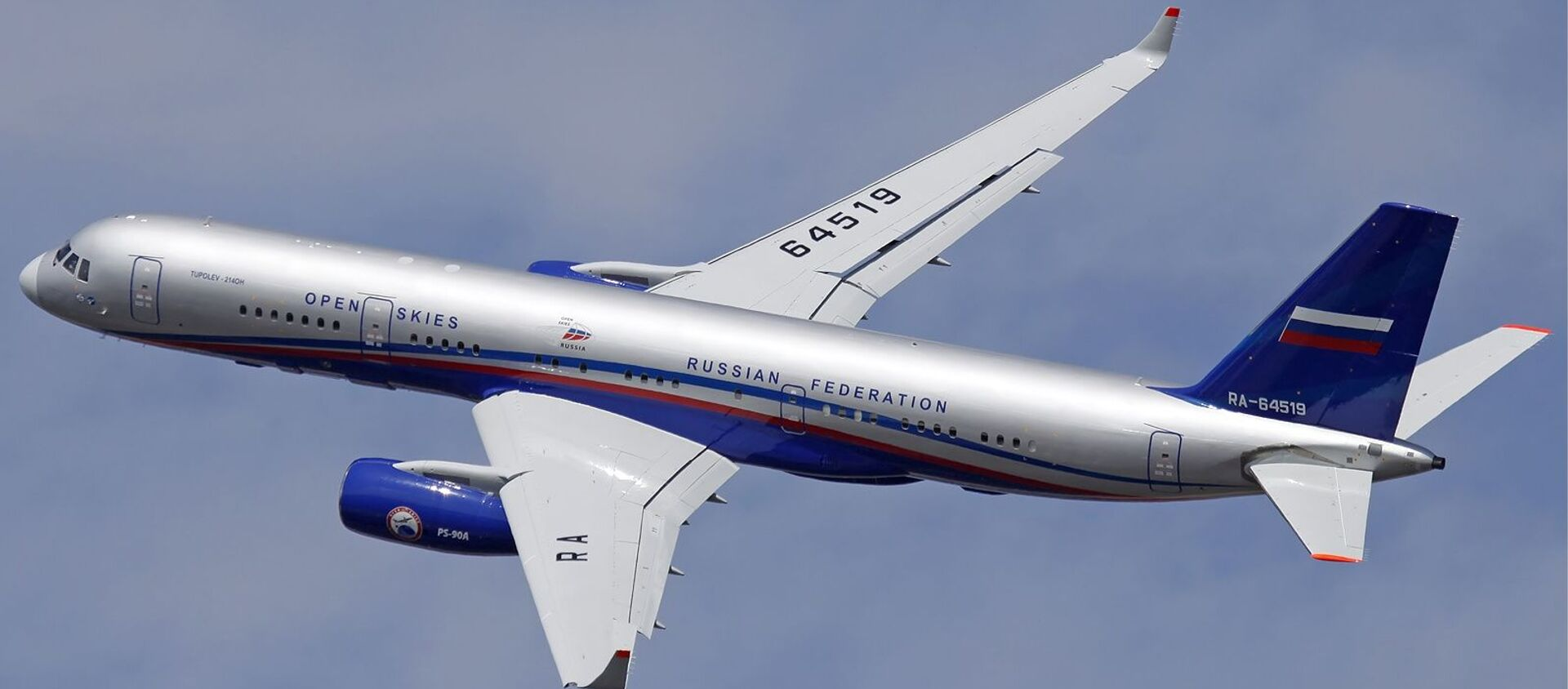 Samolot nadzoru lotniczego Tu-214ON - Sputnik Polska, 1920, 06.04.2021