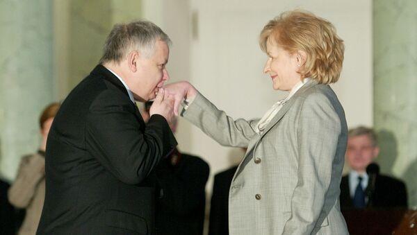 Prezydent Polski Lech Kaczyński z minister finansów Zytą Gilowską  - Sputnik Polska