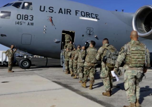 Oddziały Gwardii Narodowej w gotowości