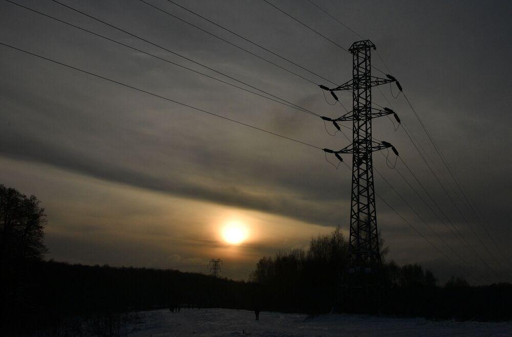Zachód słońca w Moskwie