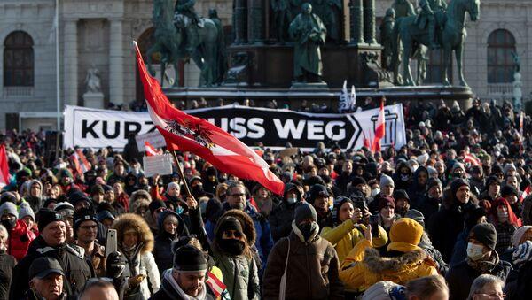 Demonstracje w Wiedniu - Sputnik Polska