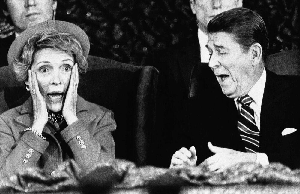 Ronald Reagan z żoną Nancy