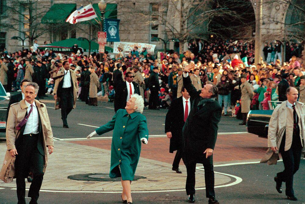 George Bush i jego żona Barbara