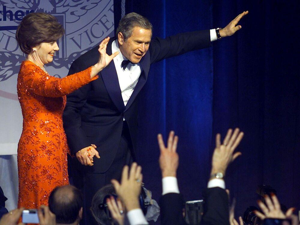 George W. Bush i jego żona Laura