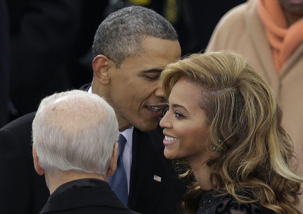 Barack Obama i piosenkarka Beyoncé