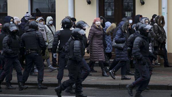 Protesty w Mińsku. - Sputnik Polska