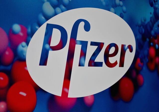 Logo amerykańskiego koncernu Pfizer