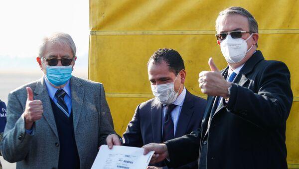 Meksykański minister spraw zagranicznych Marcelo Ebrard i minister zdrowia Jorge Carlos Alcoser - Sputnik Polska