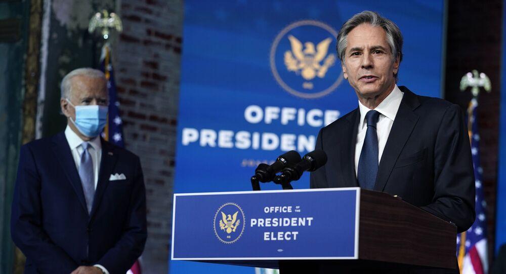 Kandydat na sekretarza stanu USA Tony Blinken – 24 listopada 2020, Wilmington