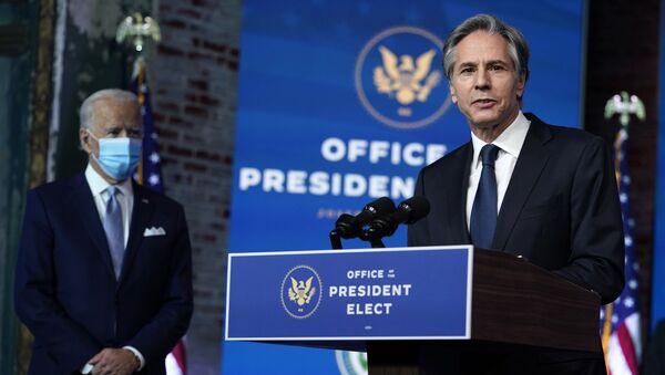 Kandydat na sekretarza stanu USA Tony Blinken – 24 listopada 2020, Wilmington - Sputnik Polska