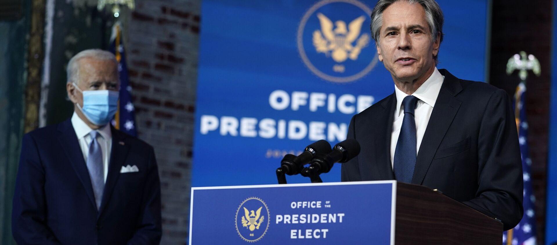 Kandydat na sekretarza stanu USA Tony Blinken – 24 listopada 2020, Wilmington - Sputnik Polska, 1920, 03.05.2021