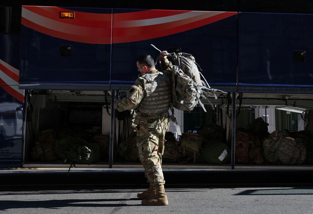 Członek Gwardii Narodowej w Waszyngtonie