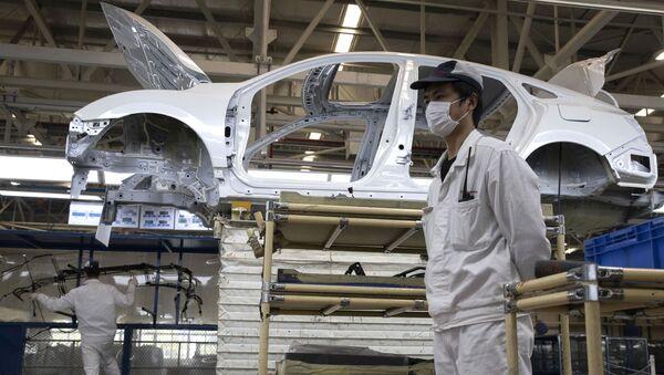 Fabryka samochodów Dongfeng Honda Automobile Co., Ltd w Wuhan. - Sputnik Polska