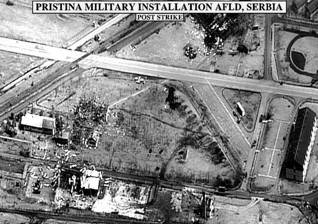 Bombardowanie lotniska wojskowego w Prisztinie podczas operacji NATO