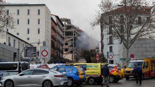 Skutki eksplozji w centrum Madrytu - Sputnik Polska