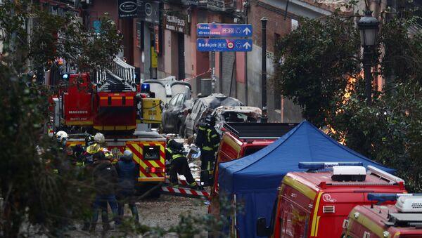 Straż pożarna na miejscu wybuchu w Madrycie - Sputnik Polska