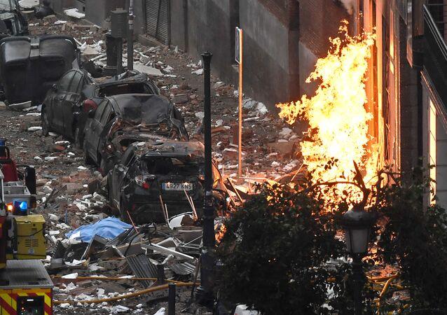 Wybuch w Madrycie