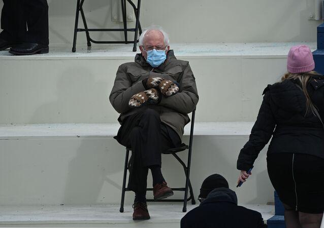 Senator Bernie Sanders podczas inauguracji Joe Bidena