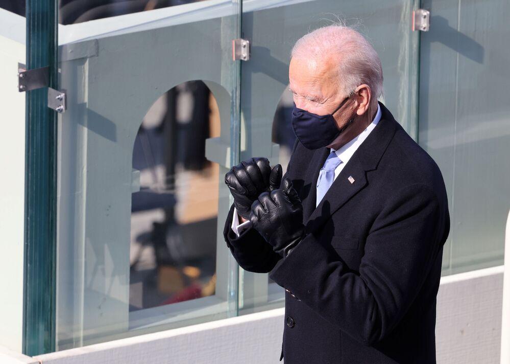 Joe Biden podczas inauguracji w Waszyngtonie