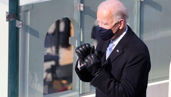 Joe Biden podczas inauguracji w Waszyngtonie - Sputnik Polska