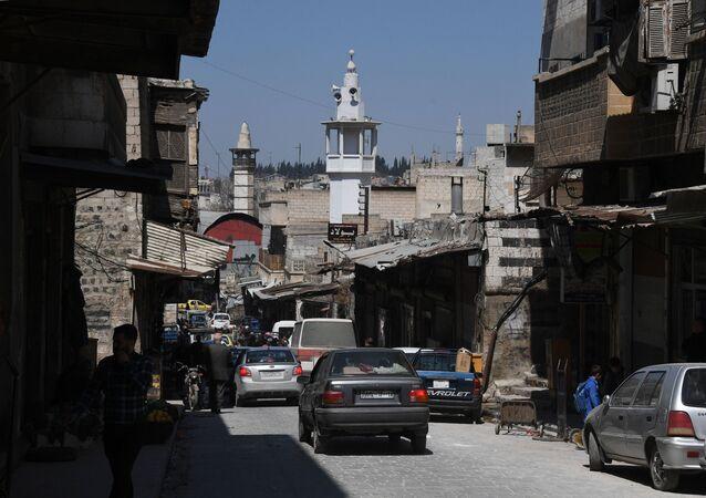 Na jednej z ulic w syryjskim mieście Hama