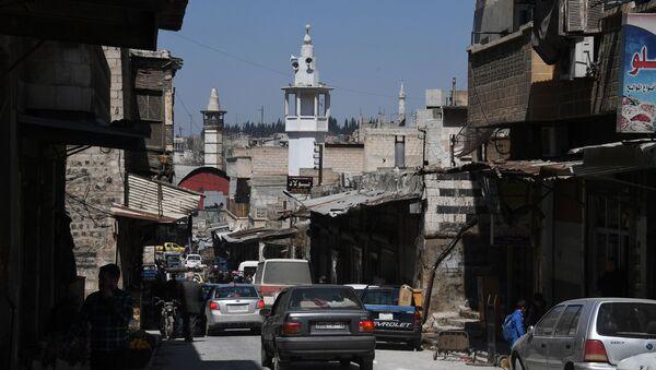 Na jednej z ulic w syryjskim mieście Hama - Sputnik Polska