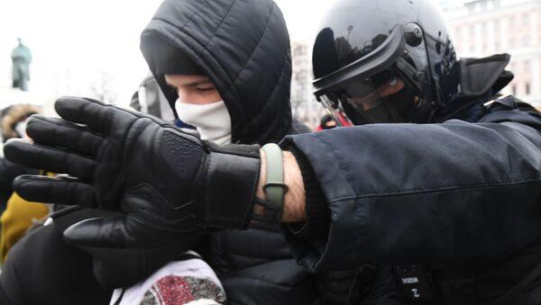 Protest zwolenników Aleksieja Nawalnego w Moskwie. - Sputnik Polska