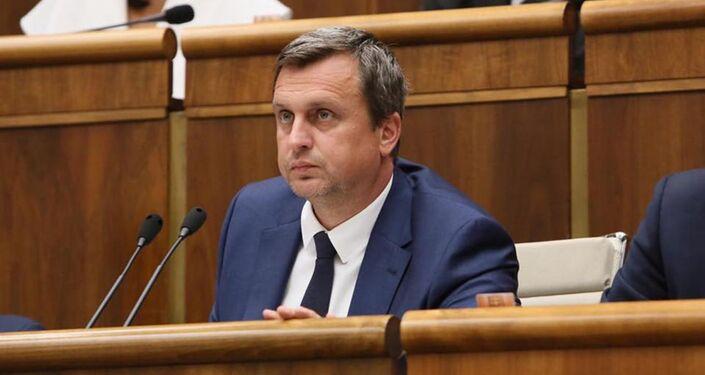 Były przewodniczący słowackiego parlamentu i lider Słowackiej Partii Narodowej Andrej Danko.