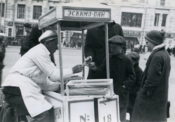 Sprzedaż lodów w ZSRR, 1935 rok - Sputnik Polska